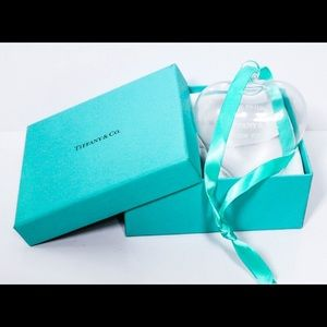Tiffany & Co. Crystal Glass Heart Ornament